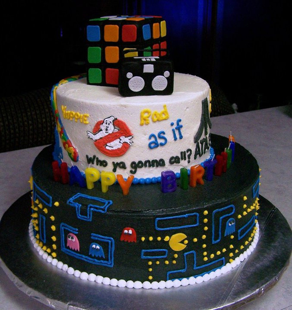 '80s Nostalgia Cake