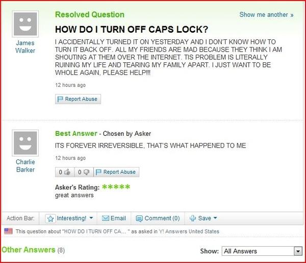 Caps Lock Ruins Lives