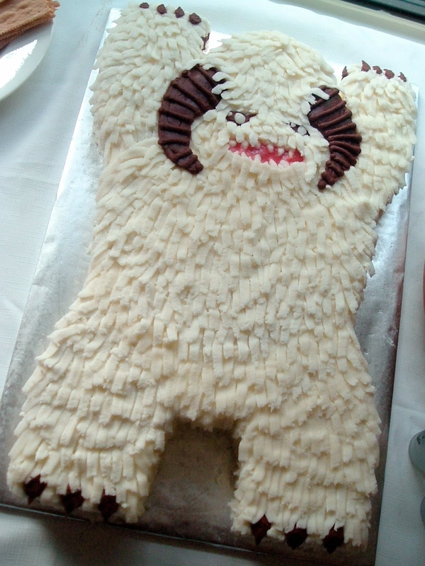 Cherry-Preserve Filled Wampa Cake
