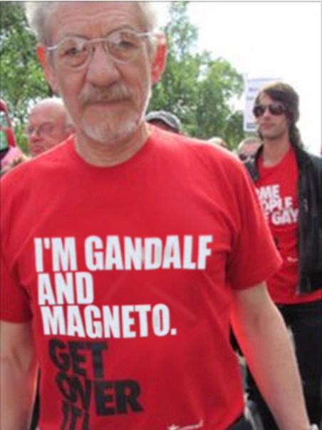 Ian McKellen At The Anti-Pope Rally