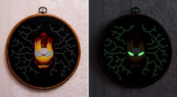 Iron Man Cross Stitch