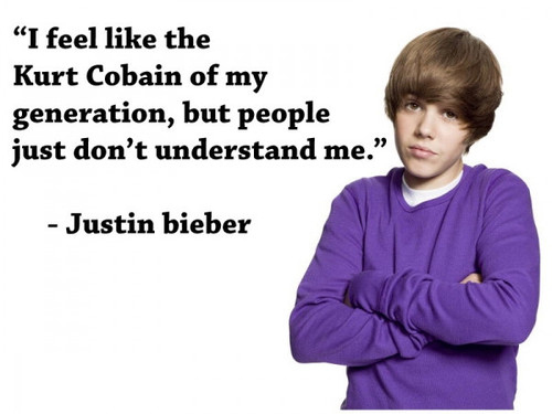 Justin Bieber Compares Self To Kurt Cobain