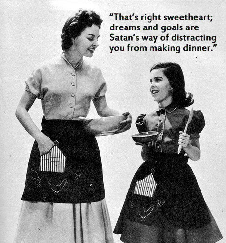 1950s Message to Little Girls