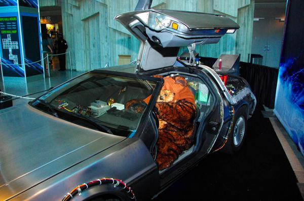 An Ewok in a DeLorean