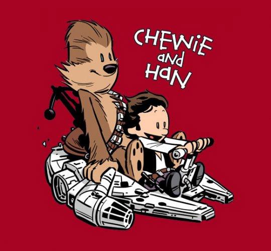 Chewie and Han Vs Calvin & Hobbes