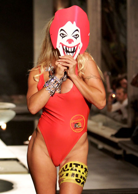 Pamela Anderson In A Ronald McDonald Mask