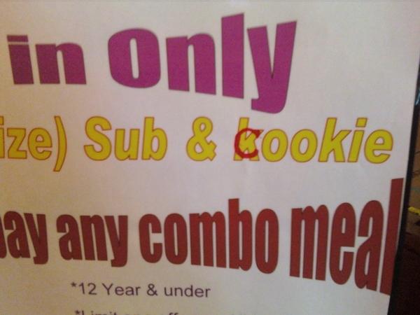 Disheartening Blimpie Spelling Fail