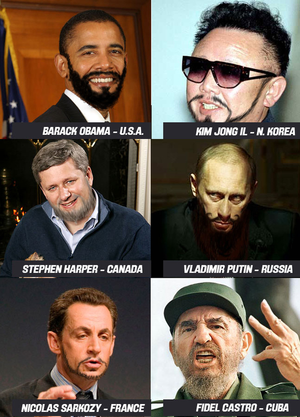 World Leaders With Hipster Beards