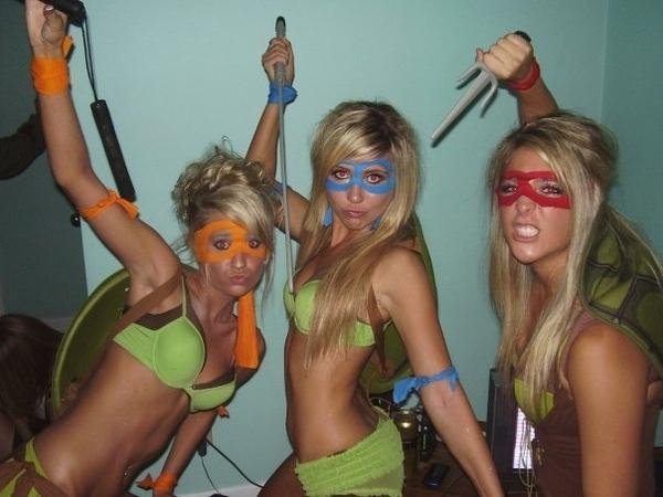 Blond Mutant Ninja Turtles