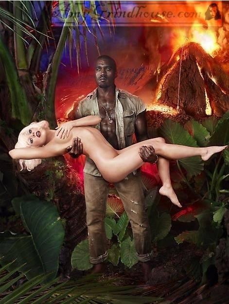 Lady GaGa & Kanye West David LaChapelle Photo Shoot