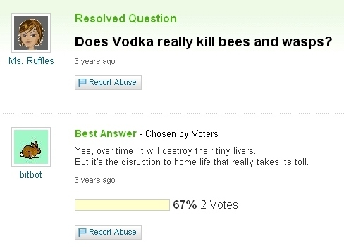 Vodka + Bees = A Lot Of Therapy