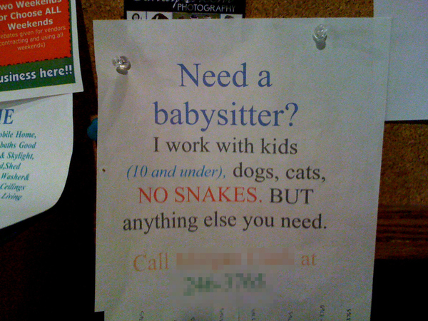 Need A Babysitter? Call Indy...