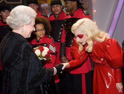 Lady Gaga Meets Queen Elizabeth At The Royal Variety Show