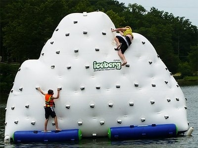 Floating Iceberg Climbing Wall and Slide
