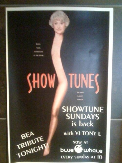 "Bea Arthur ""Showgirls"" Poster"