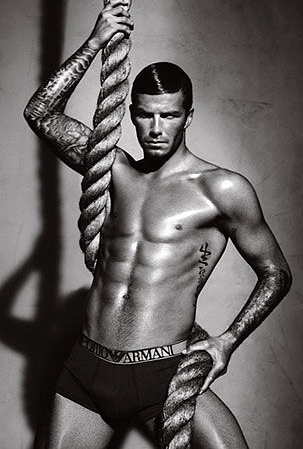 David Beckham's Hanging Around in His Underwear Again