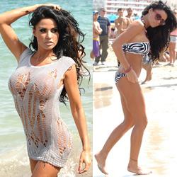 Katie Price Sexy Bikini Shoot In Ibiza