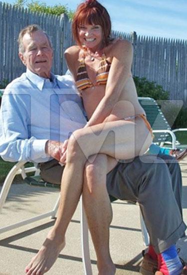 President Bush Sr. with Ladyfriend