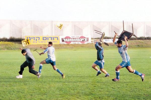 Soccer Match Chair Fight