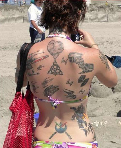 Star Wars Back Tattoos