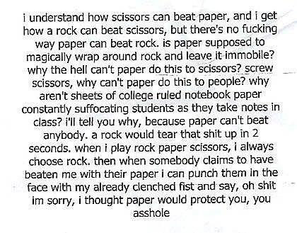 Rock Always Beats Paper