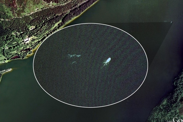 The Loch Ness Monster On Google Earth