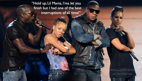 Kanye Interrupts Lil Mama's Interruption at the VMAs