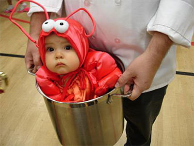 Lobster Dresses As a Baby!