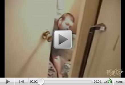 Kicked Door Smashes Dudes Head