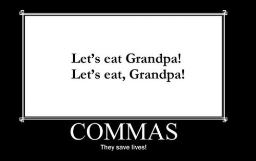 Commas, They Save Lives