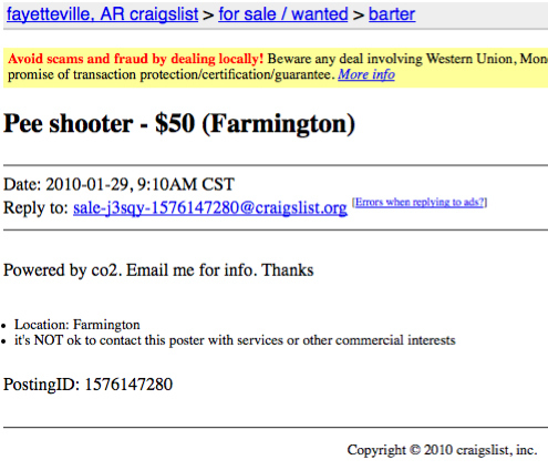 Pee Shooter for Sale