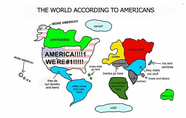 US Map of the World