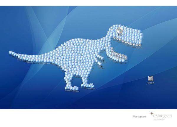 Dinosaur Takes Over Desktop