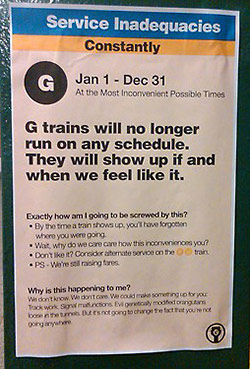 G Train Service Has Been Interrupted (Forever)
