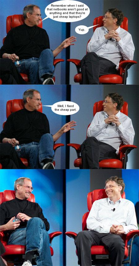 Steve Jobs 'fixes' the Netbook