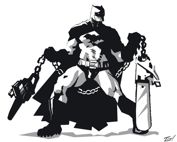Batman With Chainsaw Nunchucks