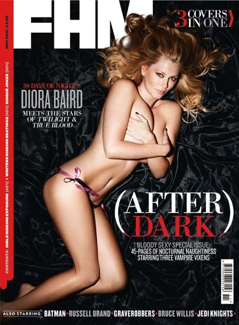 Diora Baird Goes Topless for FHM November 2010