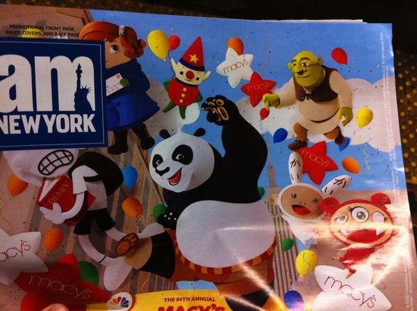 AMNY Macys Shrek Has a Hitler Stache