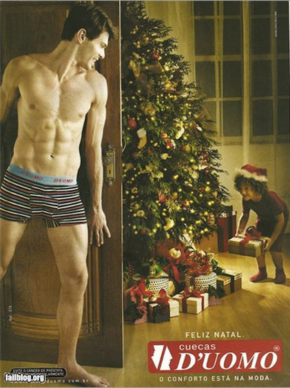 Creepy Brazilian Christmas Underwear Ad