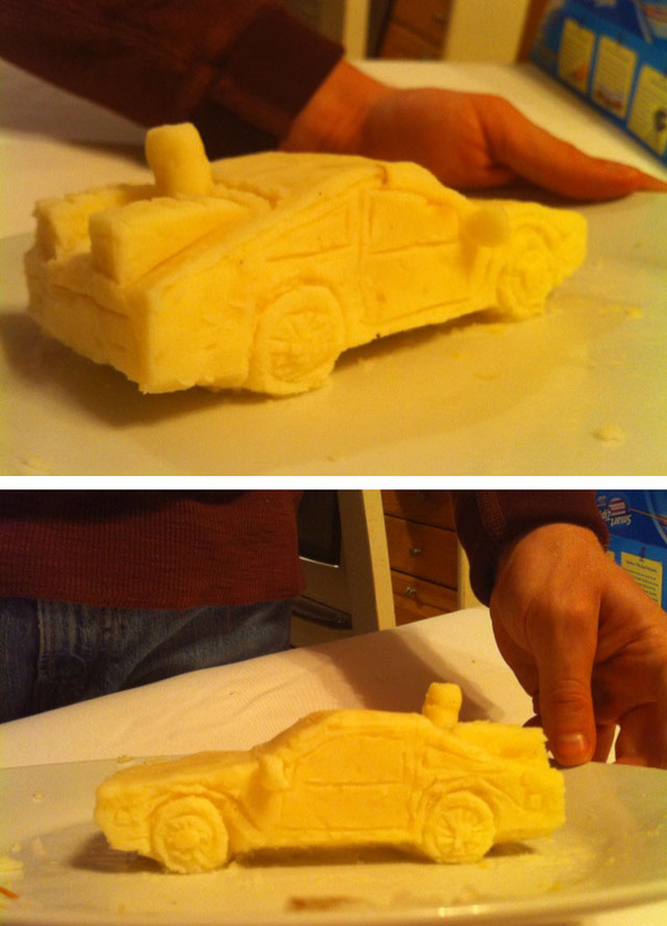 BTTF Mashed Potato Sculpture
