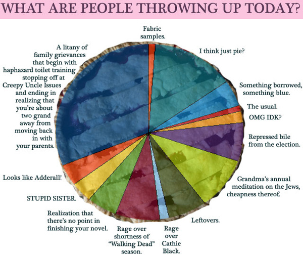 Thanksgiving's Afterbluuuuurgh : A Pie Pie Chart