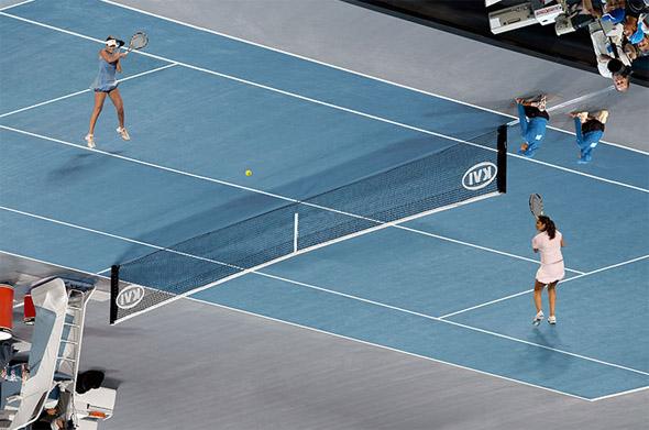 MC Escher Tennis Match