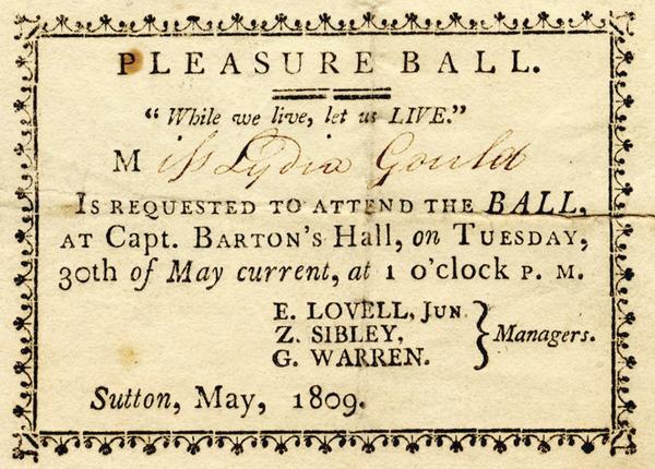 Orgy Invitation, Circa 1809