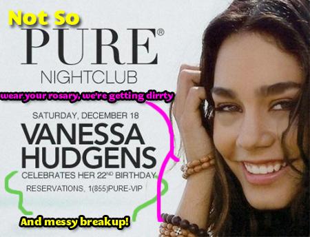 Vanessa Hudgens Real Birthday Invitation