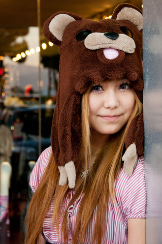 Pedobear Plush Hat