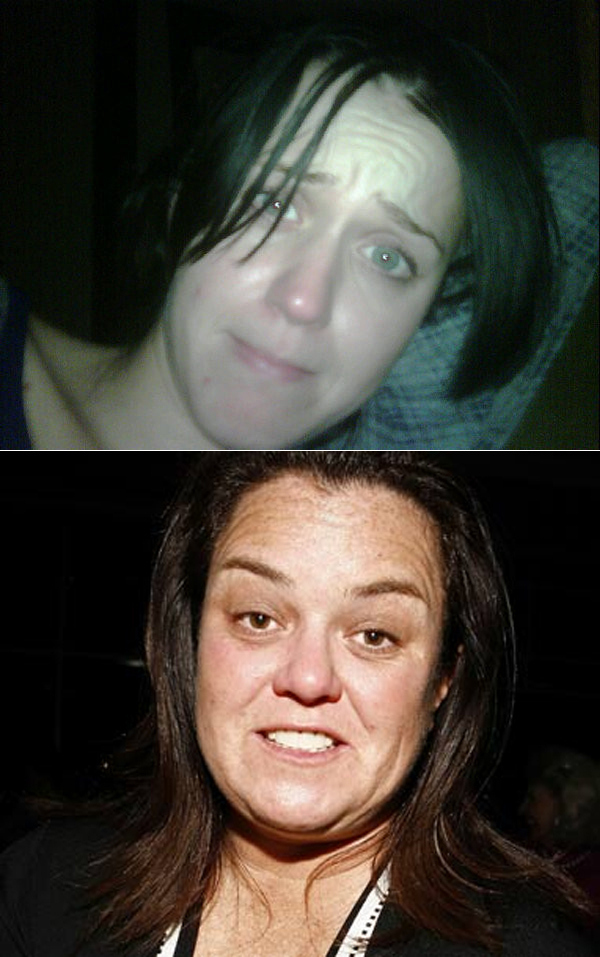 Rosie O'Donnel With  No Make-up