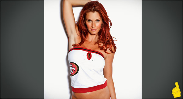 Sports Babe of the Day: San Francisco 49ers Redhead