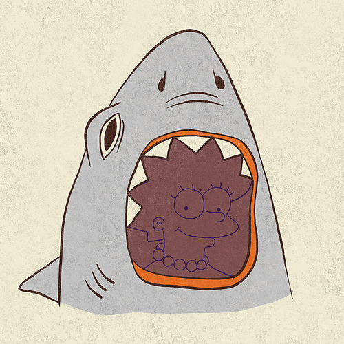Lisa Simpson + Shark Mash-Up