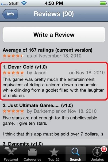 Best Game Review Ever