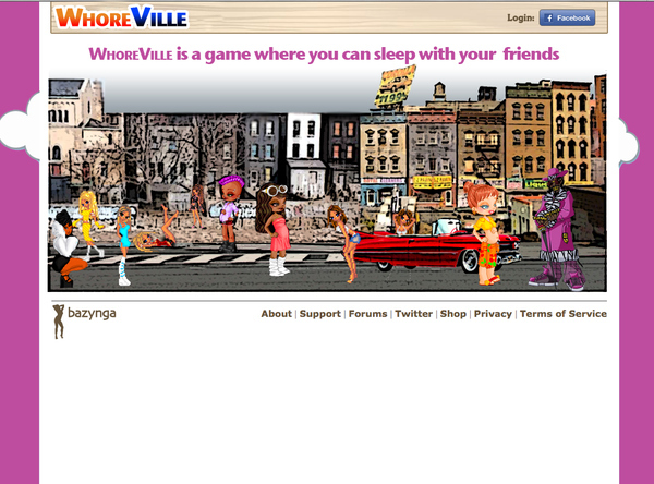 WhoreVille- the New Must Have Facebook Game!